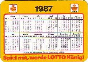 Lotto-Kalender 1987