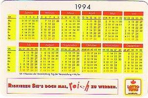 Lotto-Kalender 1994